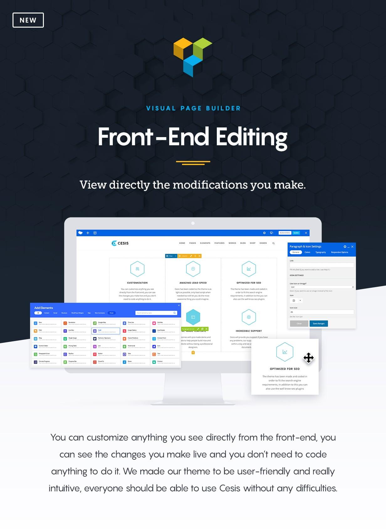 Cesis WordPress Description Front End Editing - Cesis   Responsive Multi-Purpose WordPress Theme