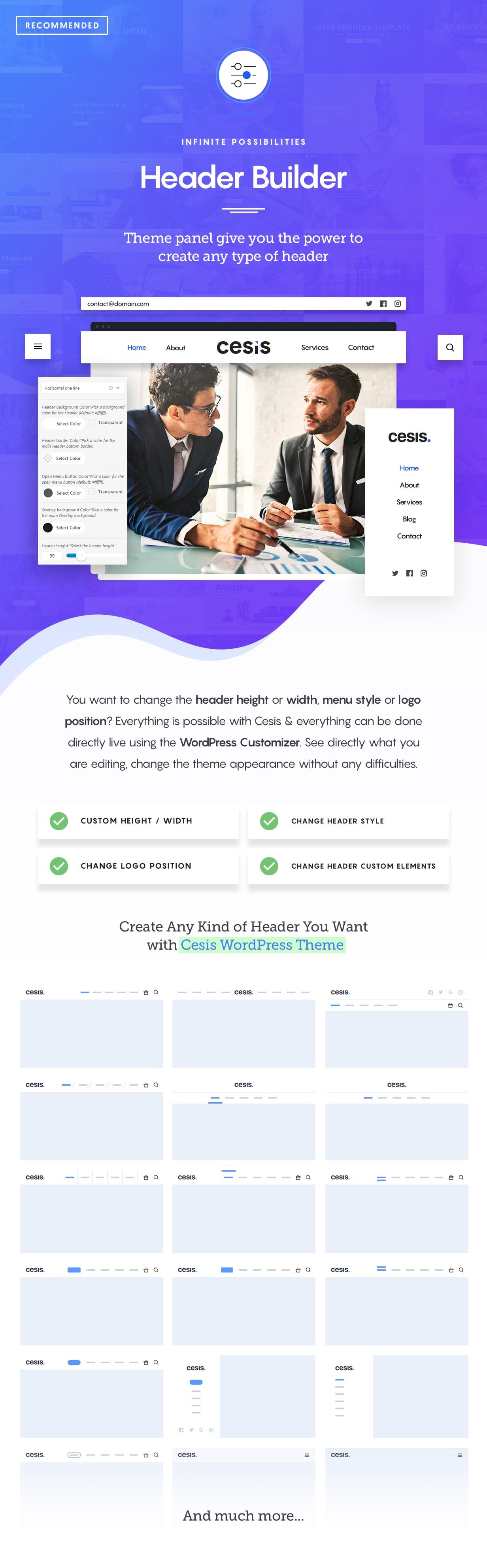 Cesis WordPress Description Header Builder - Cesis   Responsive Multi-Purpose WordPress Theme