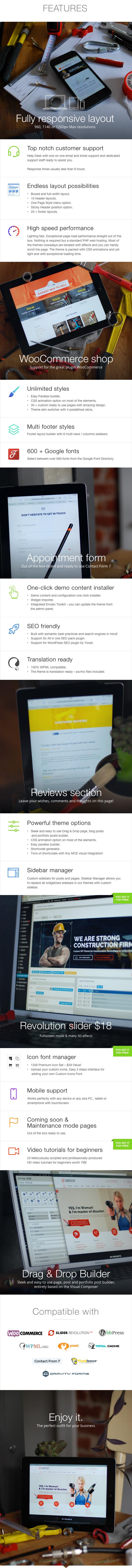 Features - Construction - Building WordPress