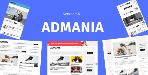 Preview 01.  large preview - Admania - Adsense WordPress Theme With Gutenberg Compatibility