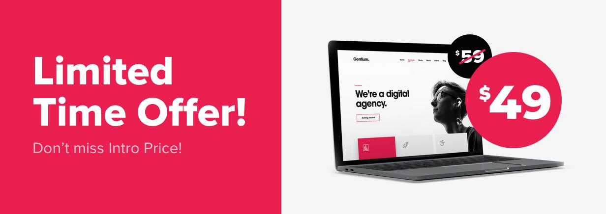 Promotion - Gentium – A Creative Digital Agency WordPress Theme