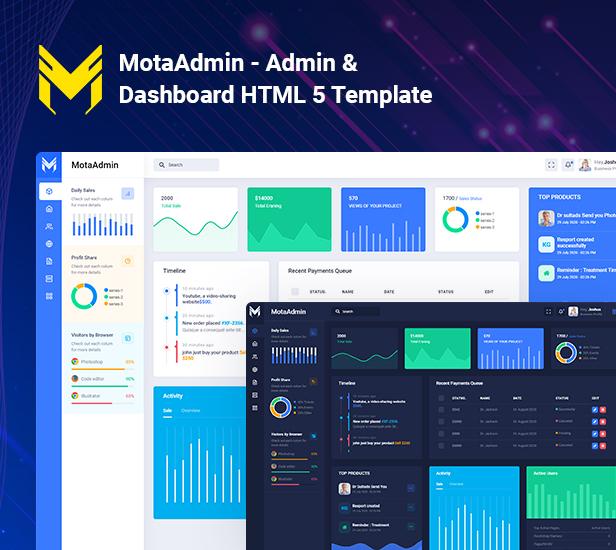 adv 1 - MotaAdmin - Admin & Dashboard Template