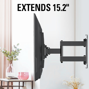 """b533bdf4 3143 4b0a a66d c012351c22ce.  CR0,0,300,300 PT0 SX300 V1    - Mounting Dream TV Mount Full Motion TV Wall Mounts for 26-55 Inch Flat Screen TV, Wall Mount TV Bracket with Dual Arms, Max VESA 400x400mm and 99 LBS, Fits 16"""", 18"""", 24"""" Studs MD2380-24K TV Mounts"""