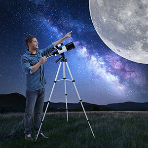 b7f2b67a 6579 4f91 a7ee 5d5afc241002.  CR0,0,300,300 PT0 SX300 V1    - Astronomical Telescope Zoom 150X Adjustable Tripod Backpack Phone Holder for Moon Viewing - 70mm Aperture 300mm AZ Mount Astronomical Refracting Telescope for Kids Beginners
