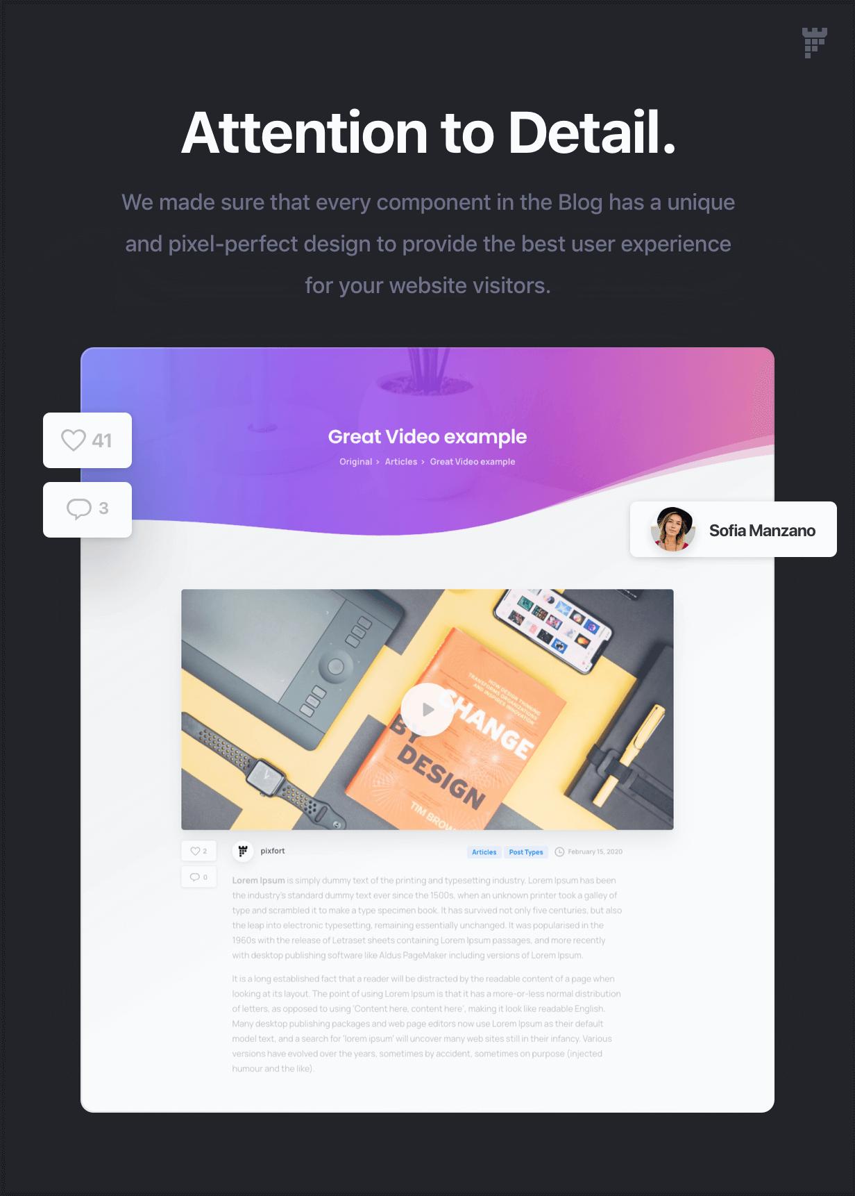 blog attention - Essentials | Multipurpose WordPress Theme