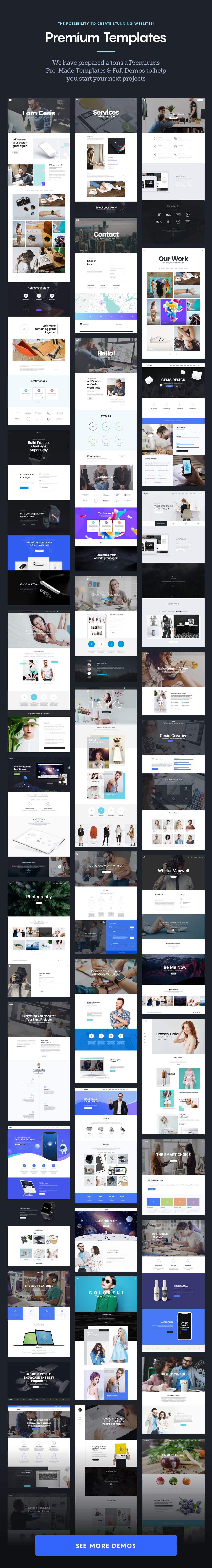 cesis beautiful premade templates - Cesis   Responsive Multi-Purpose WordPress Theme