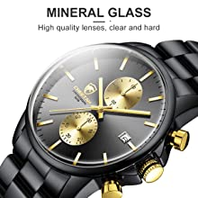 cf09b584 d994 4792 9f23 ed0041e9b9cb.  CR0,0,600,600 PT0 SX220 V1    - GOLDEN HOUR Fashion Business Mens Watches with Stainless Steel Waterproof Chronograph Quartz Watch for Men, Auto Date