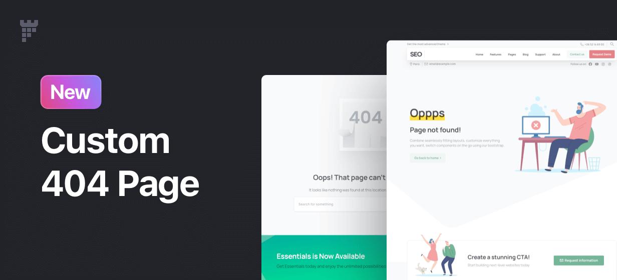custom 404 page - Essentials | Multipurpose WordPress Theme