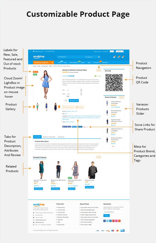 customizable page2 - EmallShop - Responsive WooCommerce WordPress Theme