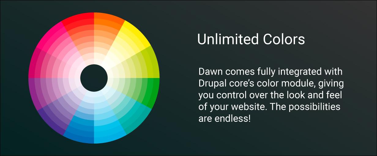 dawn preview colors - Dawn - Multipurpose Responsive Drupal 9 Theme
