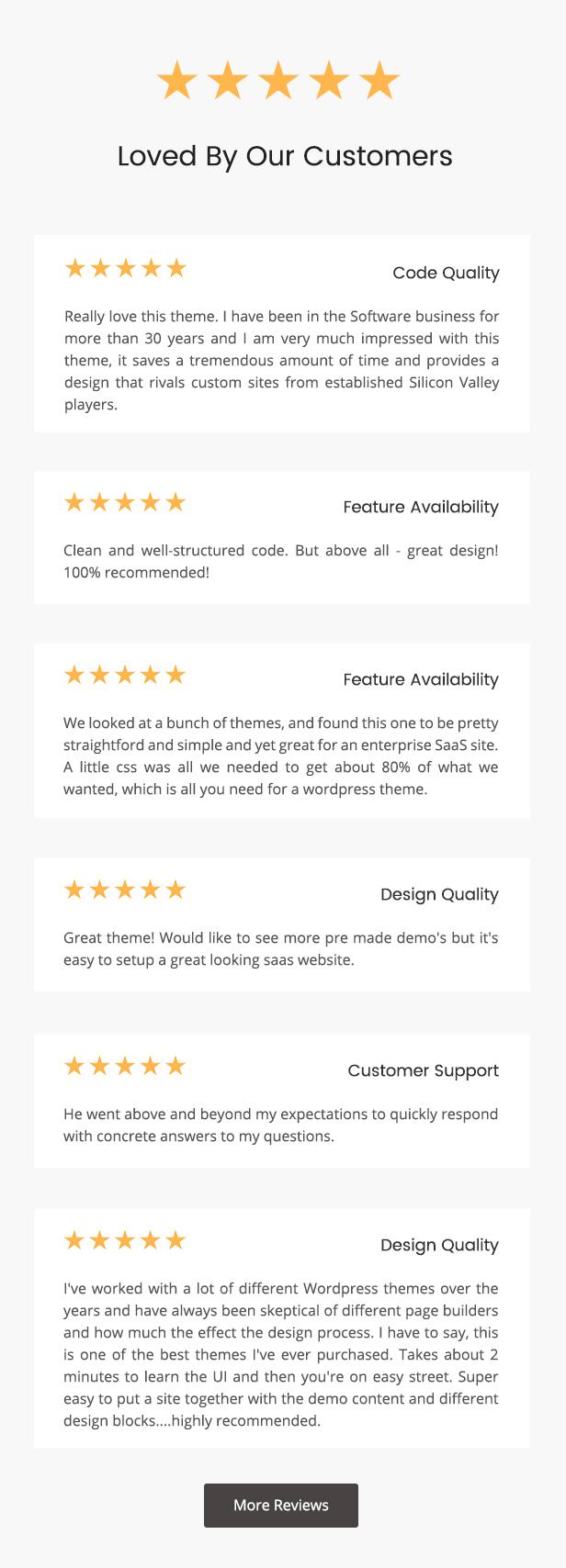 desc review - TheSaaS X - Responsive SaaS, Startup & Business WordPress Theme
