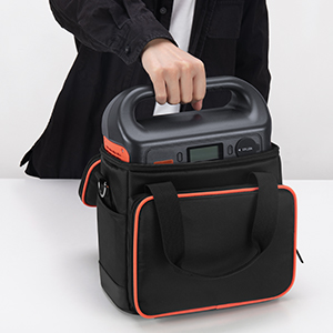 e338dc0d b012 45d8 b508 bfa523794392.  CR0,0,300,300 PT0 SX300 V1    - Trunab Travel Carrying Bag Compatible with Jackery Portable Power Station Explorer 160/240/300, Storage Case with Waterproof PU Bottom and Front Pockets for Charging Cable and Accessories