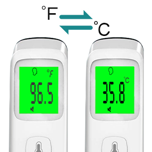 e47aab90 73c0 4e1a a3da 45ce9a862e20.  CR0,0,300,300 PT0 SX300 V1    - XDX Thermometer for Adults Forehead, No Touch Thermometer with Fever Alarm and Memory Ideal for Babies, Kids, Adults, Indoor Outdoor Medical Use