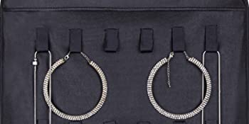 e7548fe0 08f3 4761 9faa 3a43108f28fc.  CR0,0,1650,825 PT0 SX350 V1    - Misslo Jewelry Hanging Non-Woven Organizer Holder 32 Pockets 18 Hook and Loops - Black
