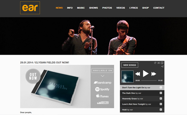 ear theband - MusicPress - A Timeless Audio Theme