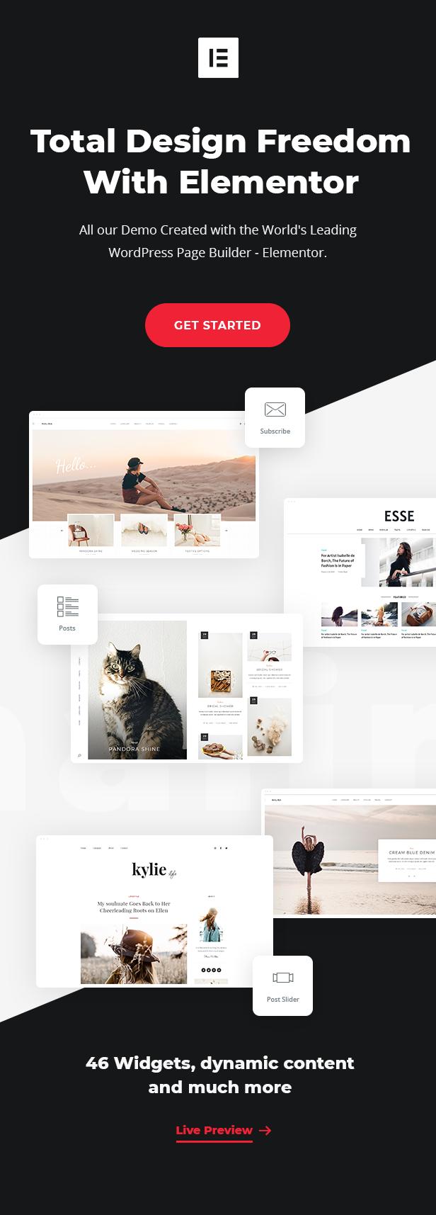 elementor desc1 - Malina - Personal WordPress Blog Theme