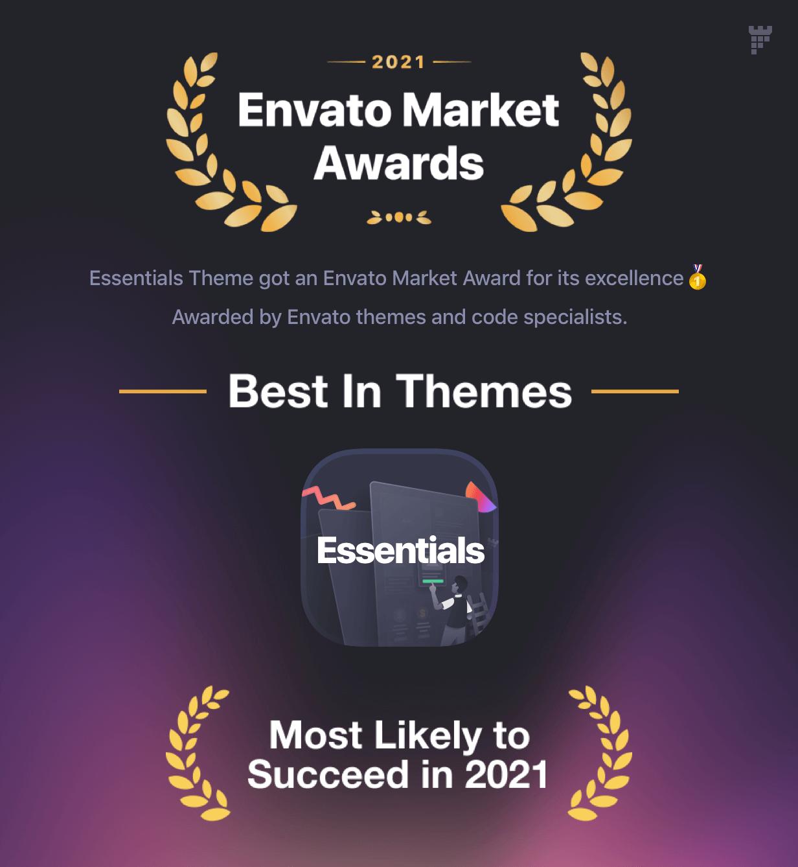 envato awards essentials - Essentials | Multipurpose WordPress Theme