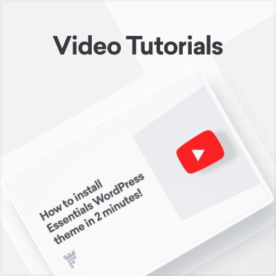essentials videos - Essentials | Multipurpose WordPress Theme