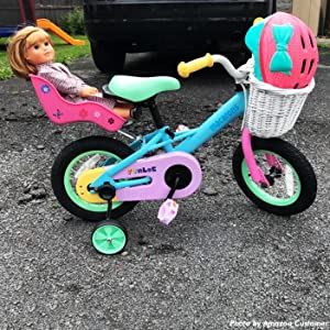 """f2638ce4 a6a4 4dec 8be1 46dce26ea7f4. CR0,0,702,702 PT0 SX300   - JOYSTAR 12"""" 14"""" 16"""" Kids Bike for 2-7 Years Girls 33-53 inch Tall, Girls Bicycle with Training Wheels & Coaster Brake, 85% Assembled, Macarons"""
