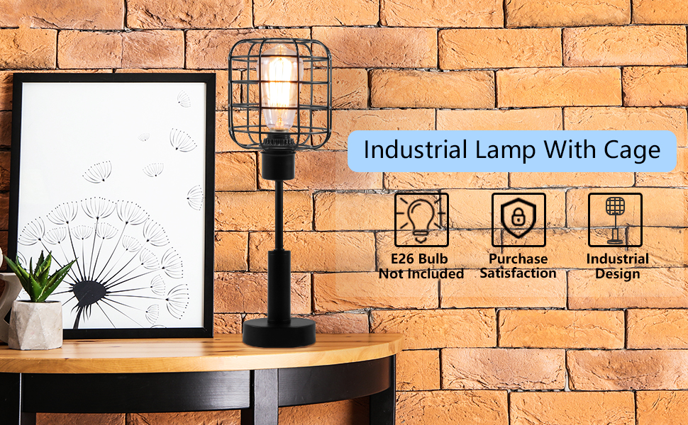f39b5c57 1cb6 482e a1d5 ed5c53eed7f2.  CR0,0,970,600 PT0 SX970 V1    - Edison Lamp, Industrial Desk Lamp, Metal Shade Cage Table Lamp for Nightstand, Bedside, Dressers, Coffee Table, Night Light Home Decor, Black