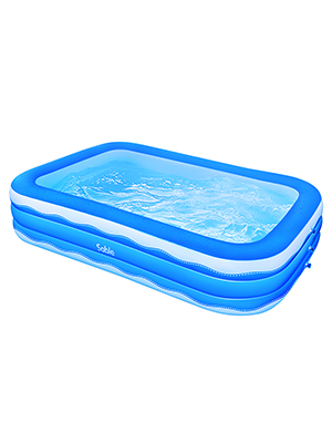 ff09afee 5144 4e70 be11 eeb21940929a.  CR0,0,300,400 PT0 SX300 V1    - Sable Inflatable Pool, 118 x 72.5 x 20in Rectangular Swimming Pool for Toddlers, Kids, Family, Above Ground, Backyard, Outdoor, Blue (SA-HF071)