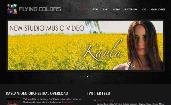 flying colors - MusicPress - A Timeless Audio Theme