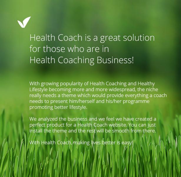 hc1 - Health Coach - Personal Trainer WordPress theme