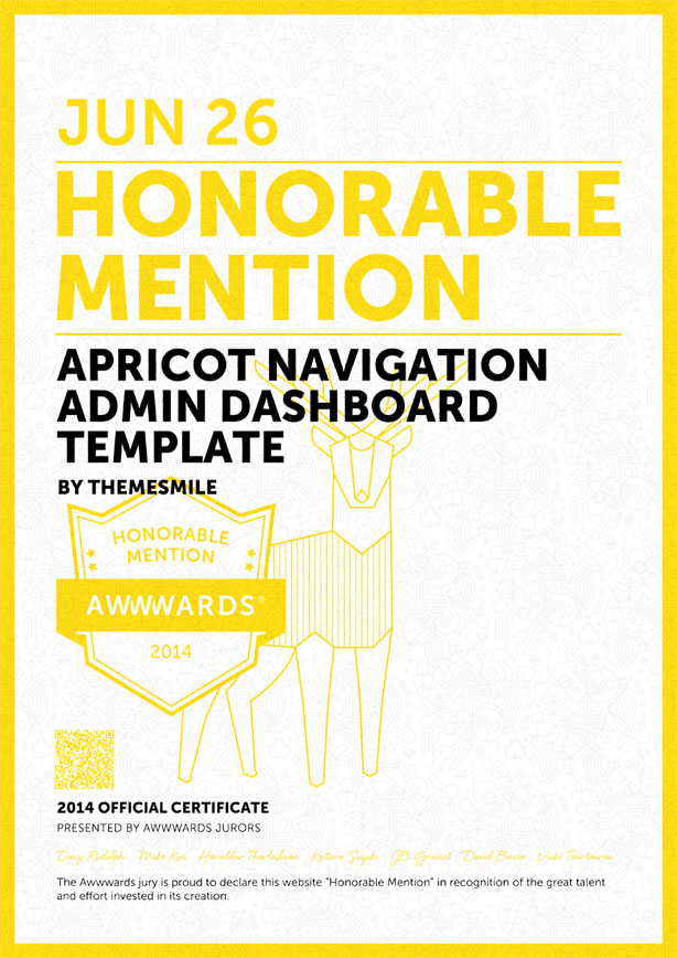honorable - Apricot Navigation Admin Dashboard Template