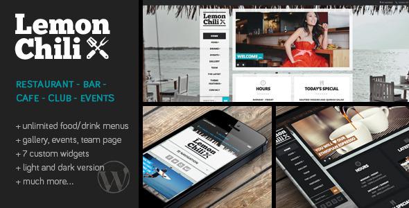 large preview.  large preview - LemonChili - A Restaurant WordPress Theme