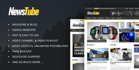 newstube main preview.  large preview - NewsTube - Magazine Blog & Video