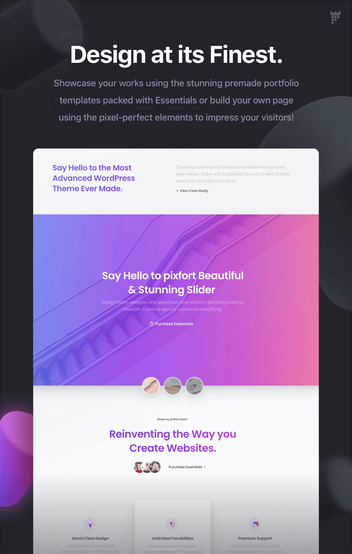 portfolio design - Essentials | Multipurpose WordPress Theme