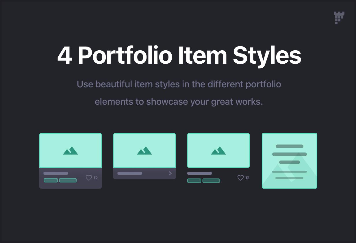 portfolio item styles - Essentials | Multipurpose WordPress Theme