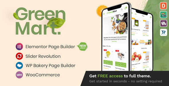 preview greenmart.  large preview - GreenMart – Organic & Food WooCommerce WordPress Theme