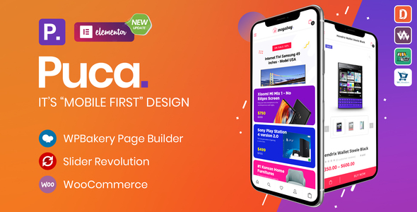 preview puca.  large preview - Puca - Optimized Mobile WooCommerce Theme