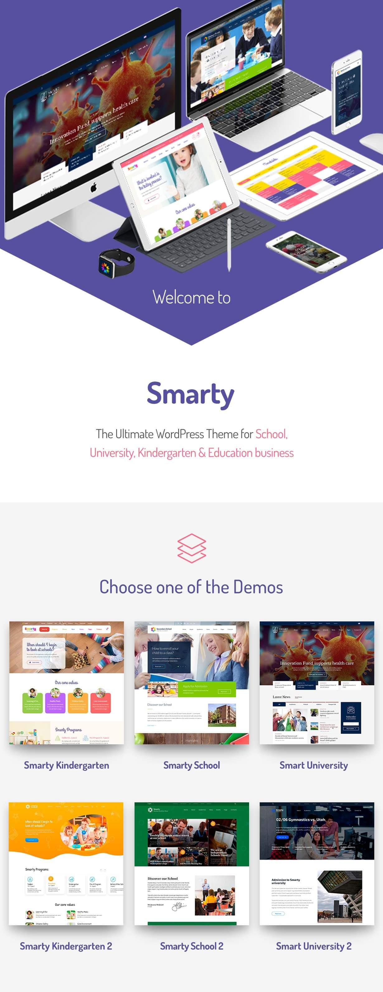 promo 1 - Smarty - School Kindergarten WordPress theme
