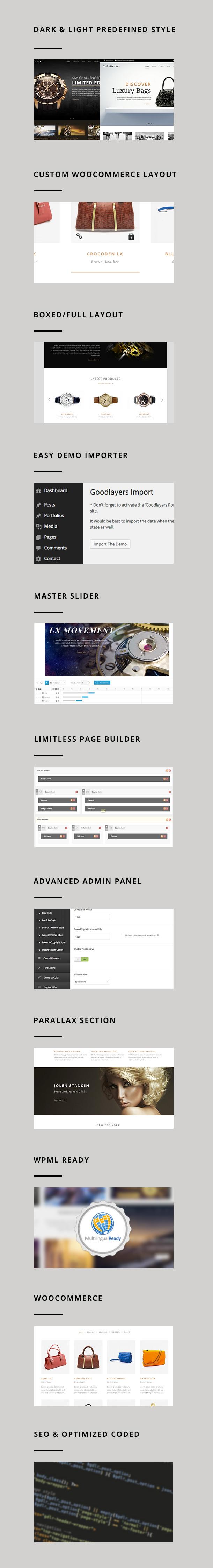 screen 1 - The Luxury - Dark / Light Responsive WordPress