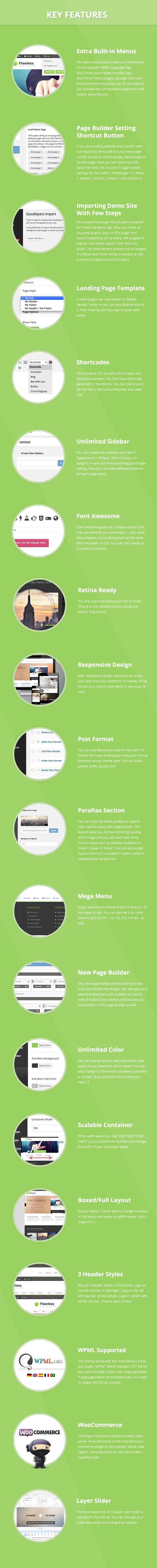 screen 2 - Flawless - Responsive Multi-Purpose WP Theme