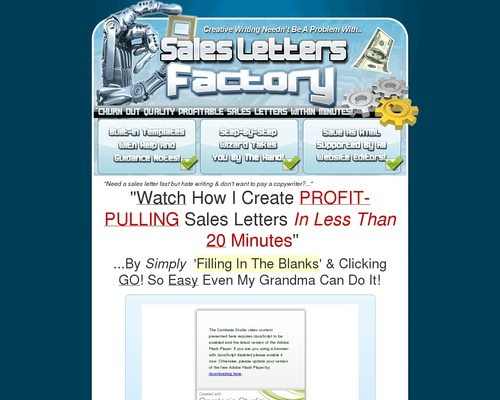 slfactory x400 thumb - Can't Write?! Watch This Video NOW To See Sales Letters Factory In Action!