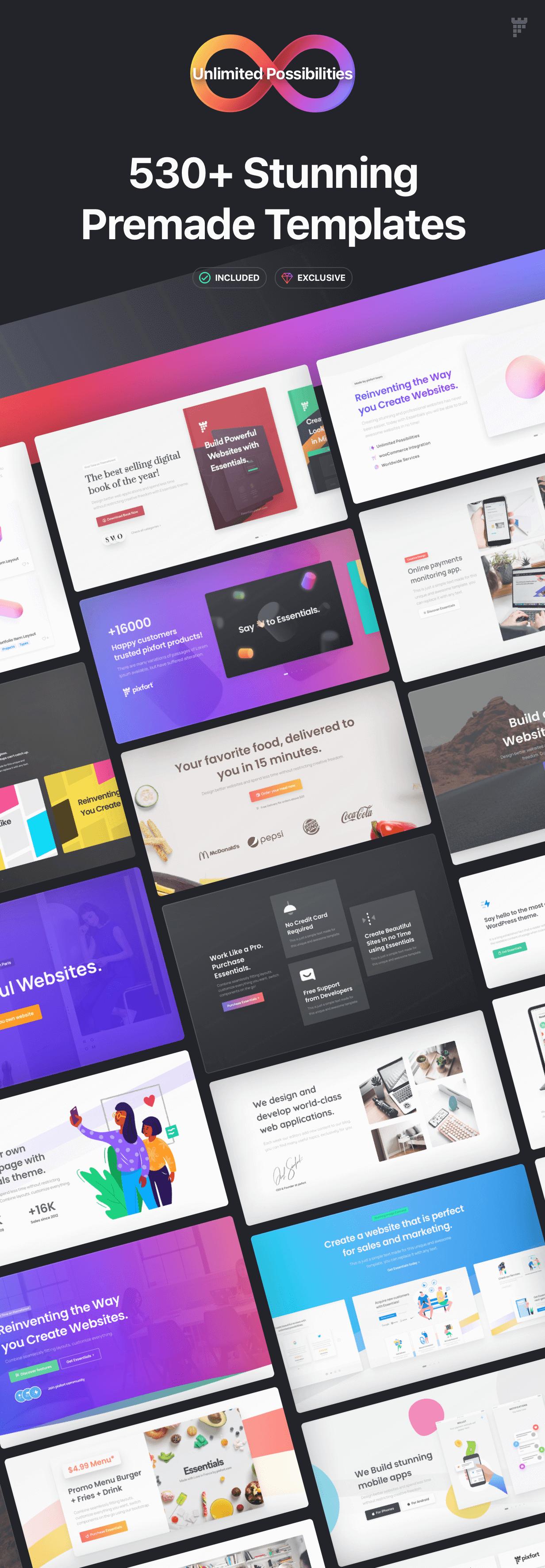 templates - Essentials | Multipurpose WordPress Theme