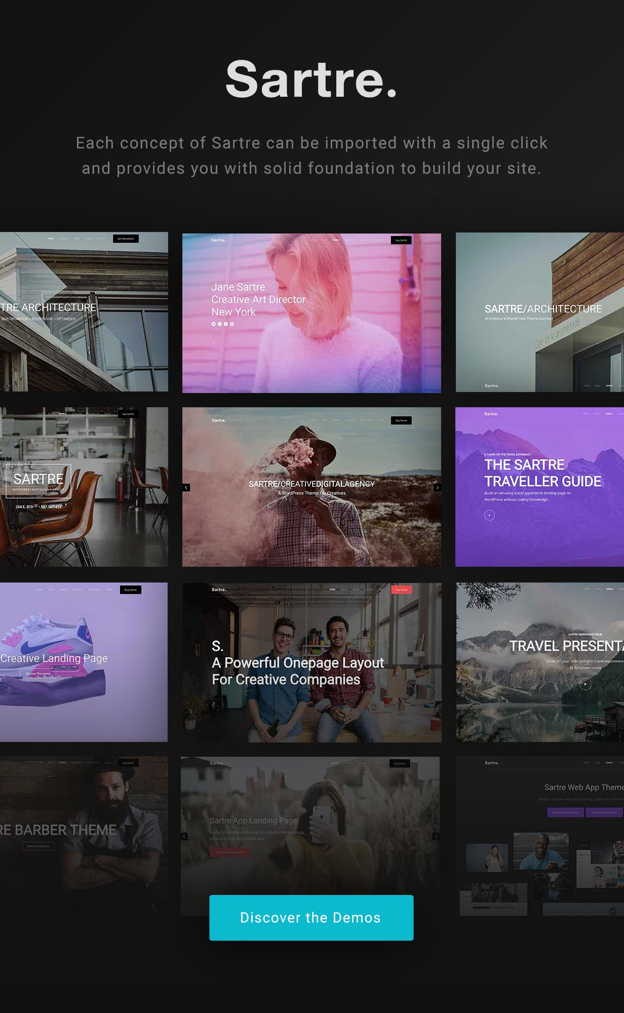 tf profile intro - Sartre - Creative Multipurpose HTML Template
