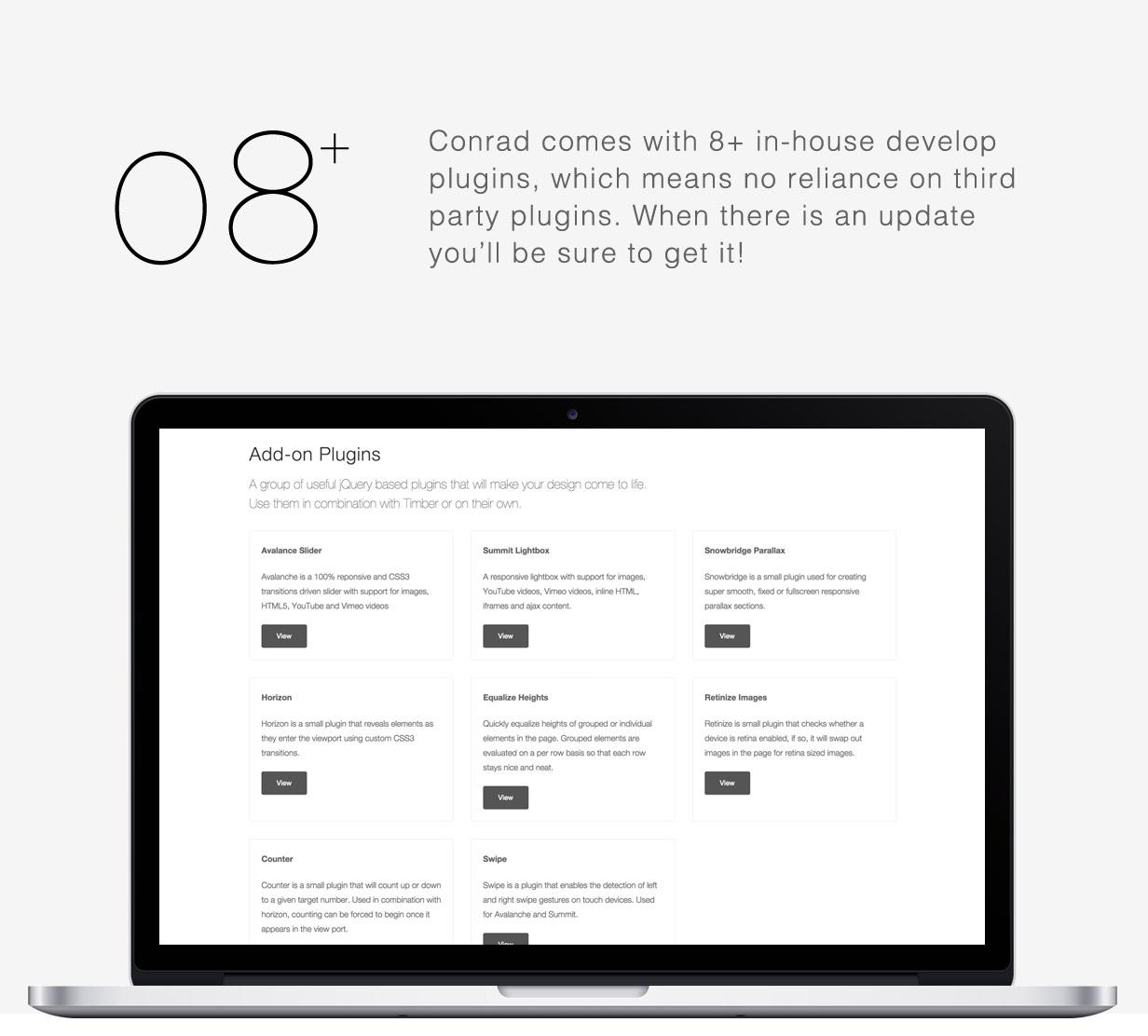 tf profile plugins - Sartre - Creative Multipurpose HTML Template