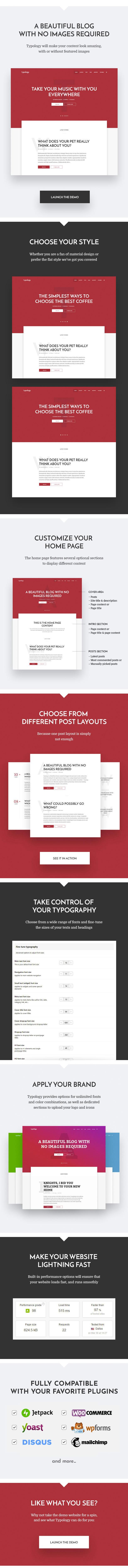 typology features part01 v5 - Typology - Minimalist WordPress Blog & Text Based Theme