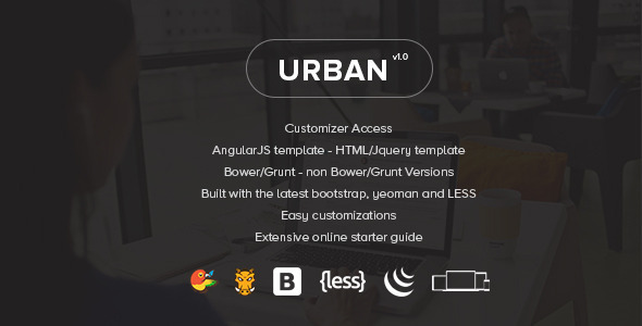 urban preview.  large preview - Urban - Responsive Admin Template + Customizer Access