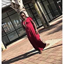 v0RWiGXJRqaJ. UX220 TTW   - GRECERELLE Women's Casual Loose Pocket Long Dress Short Sleeve Split Maxi Dresses