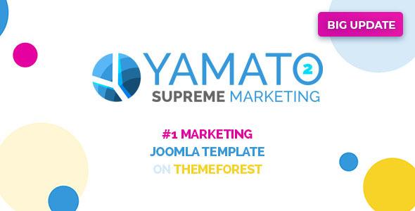 yamato2 preview.  large preview - Yamato - Premium Responsive Marketing Joomla Template