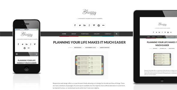 00.  large preview - Bloggy WP - Responsive Minimalist WordPress Theme