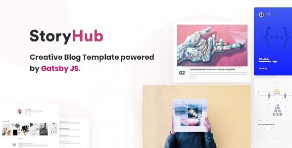 00 preview.  large preview - StoryHub - React Gatsby Blog Template