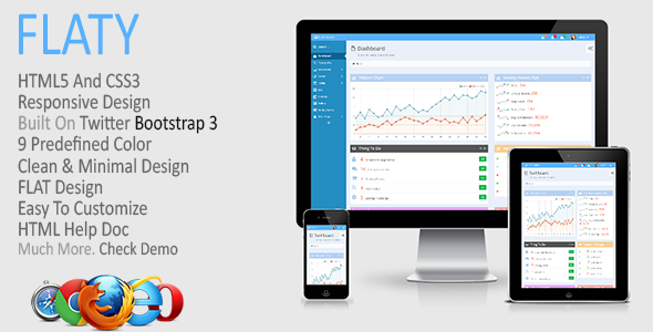 01 590x300.  large preview - FLATY - Responsive Admin Template