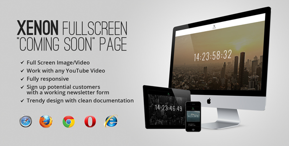 01 banner.  large preview - Xenon — Countdown & YouTube Video Background Page