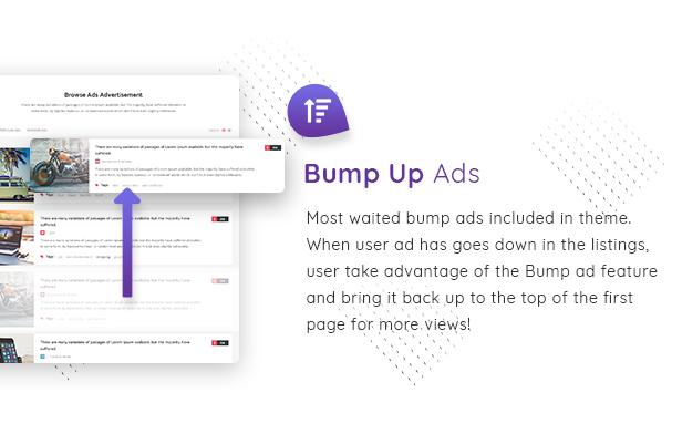 05 bump ads - Classiera – Classified Ads WordPress Theme